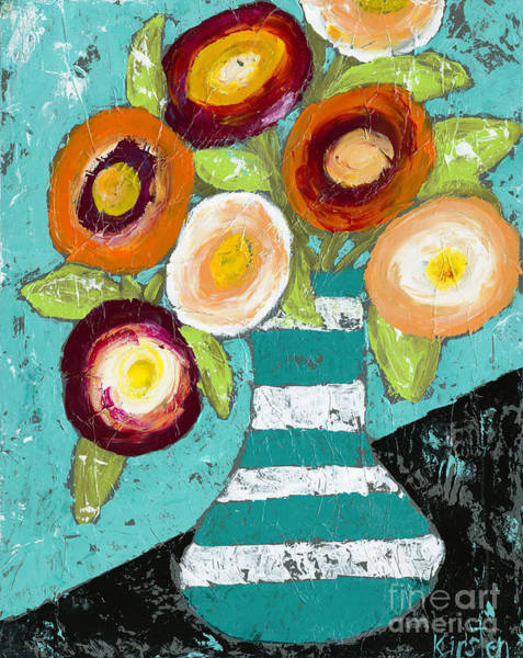 Wall Art - Painting - Cheerful Blooms by Kirsten Reed