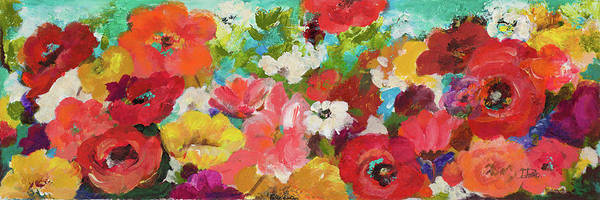 Wall Art - Painting - Cheerful Flowers by Patricia Pinto