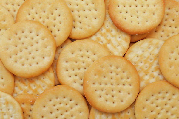 Cracker Photograph - Cheese Biscuits by Andyd