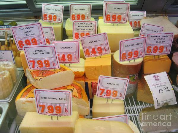 Cheese Display Art Print
