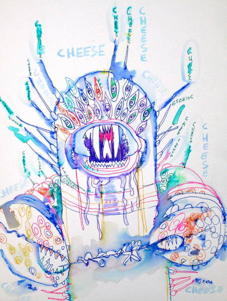 Chela Wall Art - Drawing - Cheese by Fabrizio Cassetta