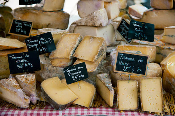 Lourmarin Photograph - Cheese For Sale At A Market Stall by Panoramic Images