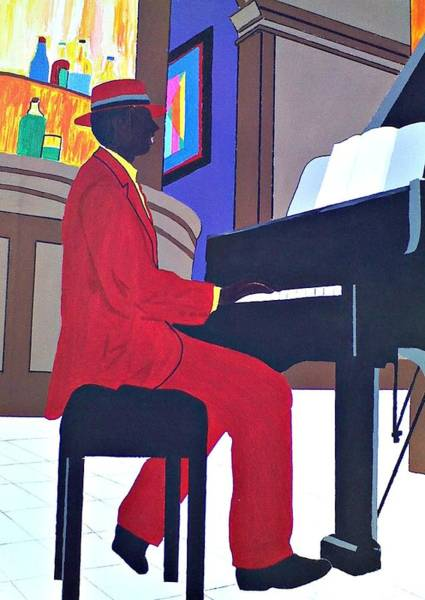 Piano Bar Painting - Cheesecake by Lew Griffin