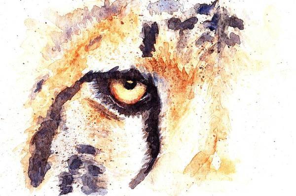 Eyeballs Painting - Cheetah by Max Good