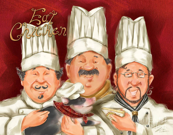 Mixed Media - Chefs Say Eat Chicken by Shari Warren