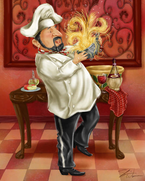 Chefs With Wine IIi Art Print