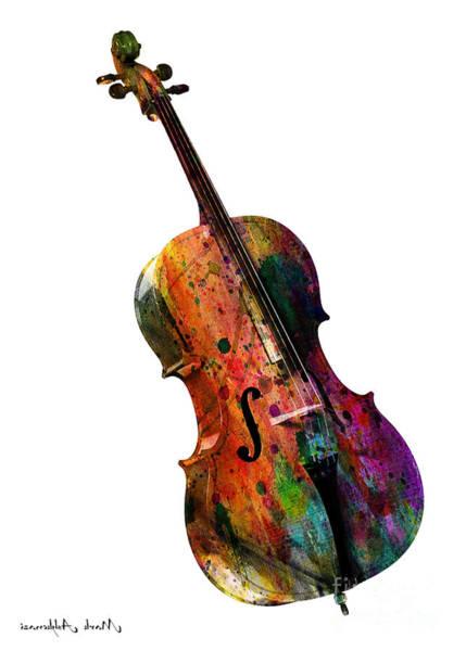 Cool Jazz Wall Art - Painting - Chello by Mark Ashkenazi