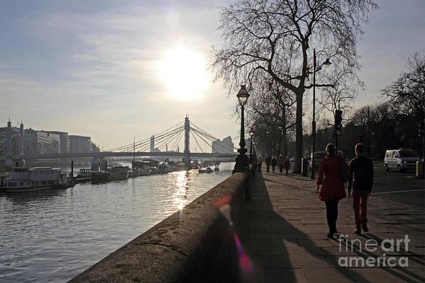 Chelsea Embankment London Uk Art Print
