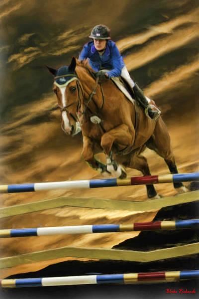 Photograph - Chelsea Jones On Horse Charmeur Van De Begijnakker by Blake Richards