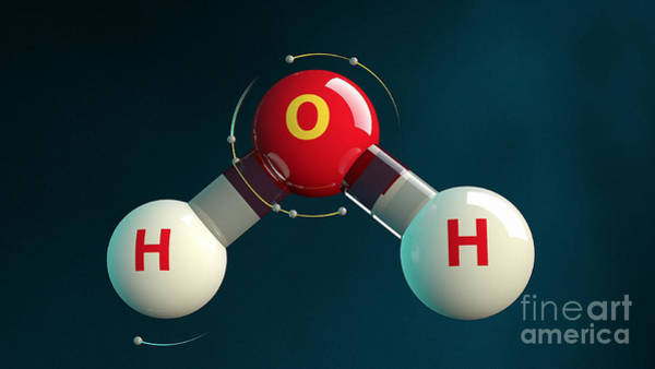 Photograph - Chemical Bond Forms H2o Electrons by Intelecom