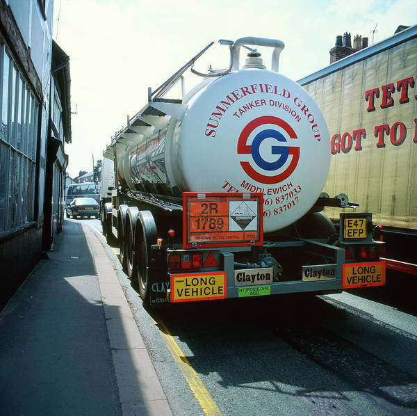 Street Machine Photograph - Chemical Road Tanker by Robert Brook/science Photo Library