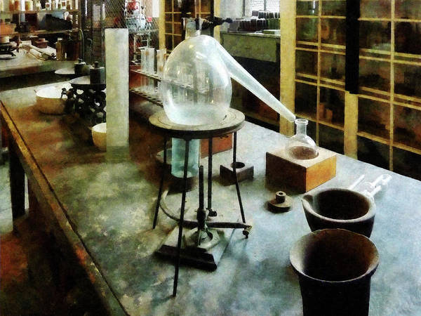 Photograph - Chemist - Retort In Chem Lab by Susan Savad