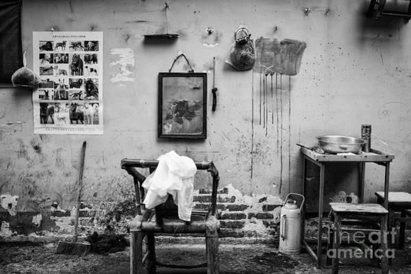 Wall Art - Photograph - Chengdu Street Barber by Dean Harte