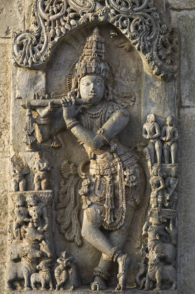 Hindu Goddess Wall Art - Photograph - Chennakesava Temple by Maria Heyens