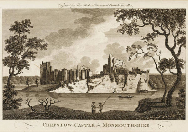 Wall Art - Drawing - Chepstow Castle, Formerly by Mary Evans Picture Library
