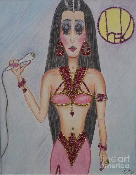 Wall Art - Drawing - Cher by William Ohanlan