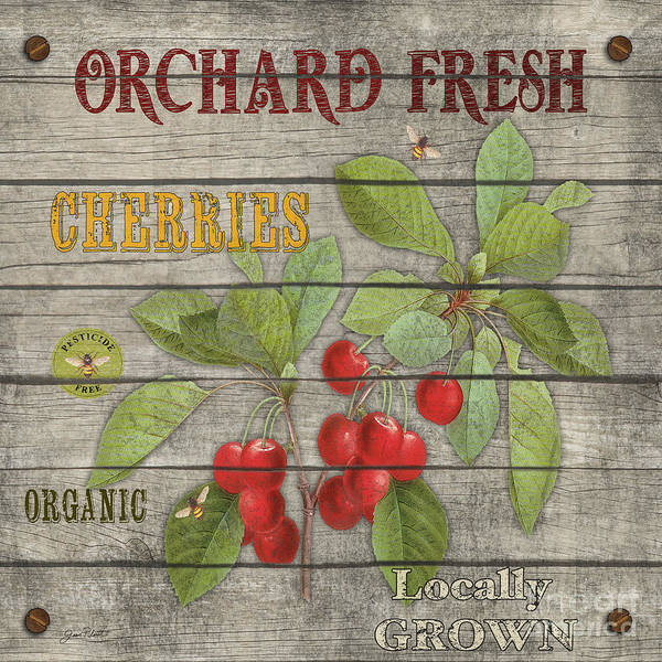 Orchard Painting - Cherries-jp2675 by Jean Plout