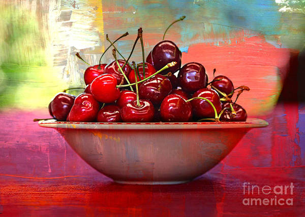 Wall Art - Photograph - Cherries On The Table With Textures by Carol Groenen