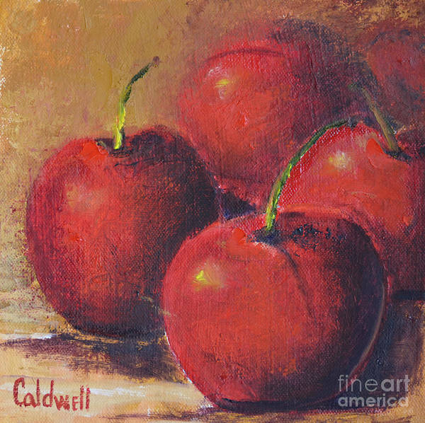 Wall Art - Painting - Cherries by Patricia Caldwell