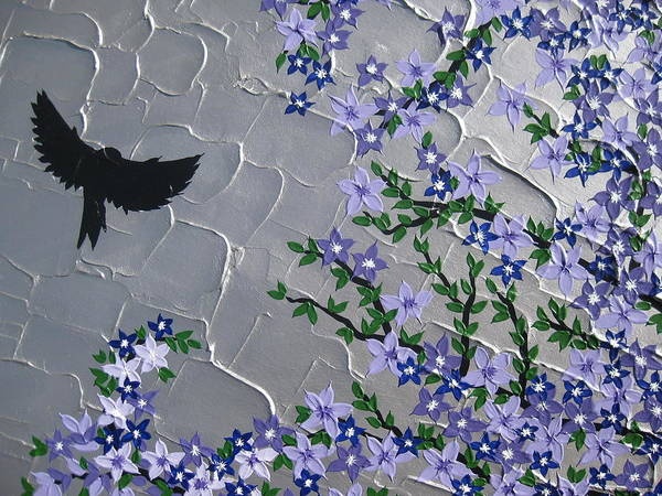 Cathy Painting - Cherry Blossom And Bird by Cathy Jacobs