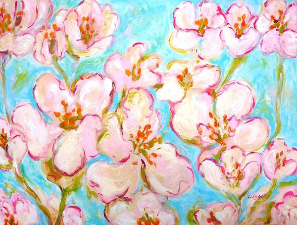 Wall Art - Painting - Cherry Blossom by Cristina Stefan