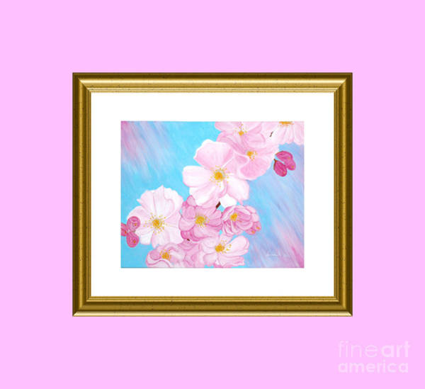 Painting - Cherry Blossom. Holiday Collection by Oksana Semenchenko
