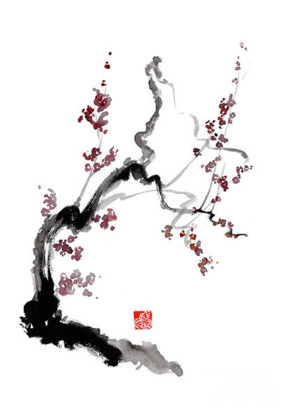 Wall Art - Painting - Cherry Blossom by Mariusz Szmerdt
