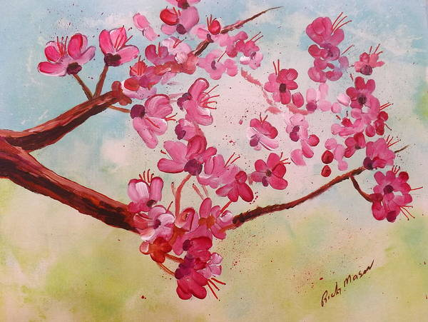 Wall Art - Painting - Cherry Blossoms 1 by Rich Mason