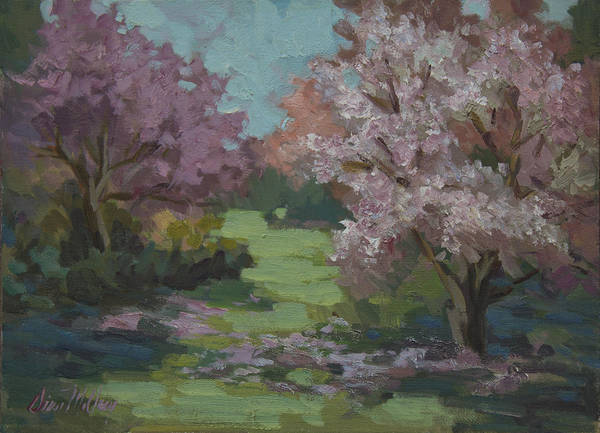 Blooming Tree Painting - Cherry Blossoms by Diane McClary
