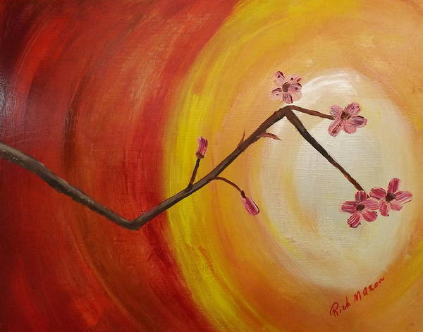 Wall Art - Painting - Cherry Branch by Rich Mason