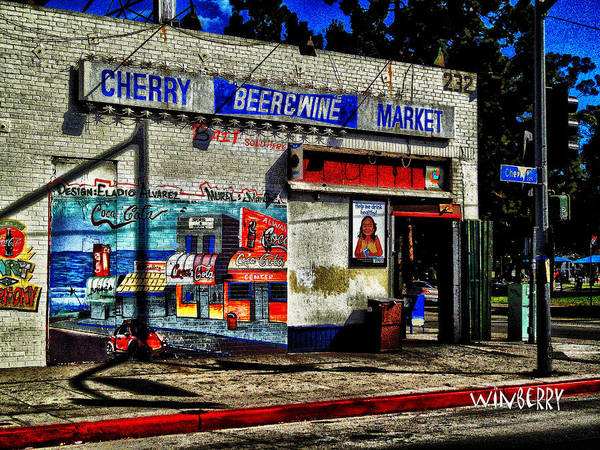 Digital Art - Cherry Market by Bob Winberry
