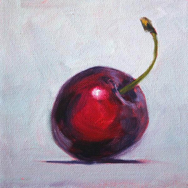 Vegan Painting - Cherry by Nancy Merkle