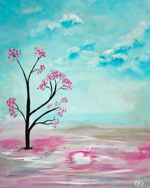 Kag Wall Art - Painting - Cherry Tree Love by Gina Cooper