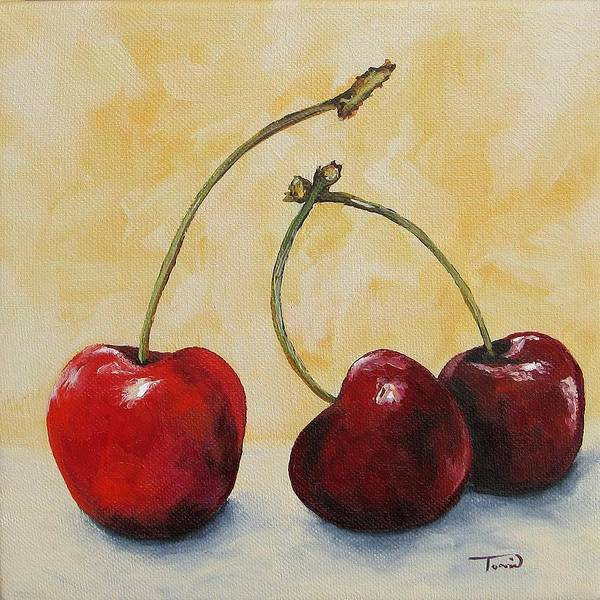 Wall Art - Painting - Cherry Trio by Torrie Smiley