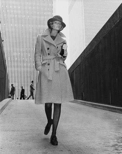 Manhattan Photograph - Cheryl Tiegs Wearing A Belle Saunders Coat by Kourken Pakchanian