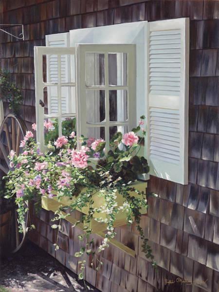 Mooring Painting - Cheryl's Window by Julia O'Malley-Keyes