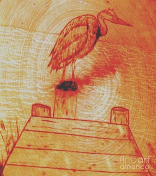 Pyrography - Chesapeak Crain by Neil Stuart Coffey