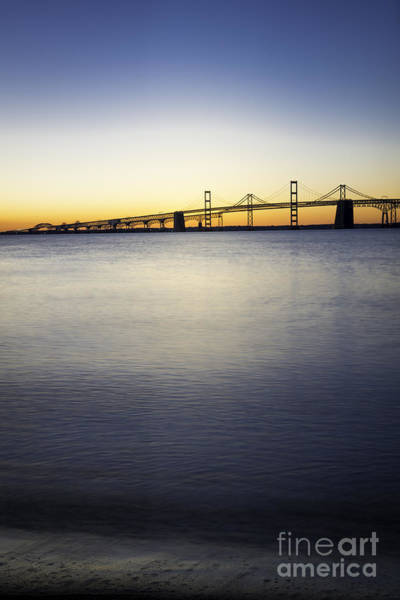Sandy Point State Park Photograph - Chesapeake Bay Bridge Just Before Sunrise Vertical by Brycia James