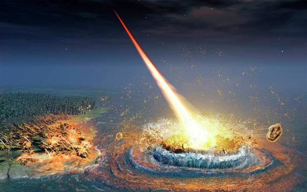 Meteor Crater Photograph - Chesapeake Bay Impact by Nicolle Rager-fuller, National Science Foundation/science Photo Library