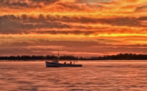 Bay Shore Painting - Chesapeake Watermen by Michael Pickett