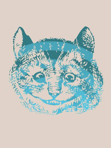 Blue Bug Digital Art - Cheshire Cat Portrait by