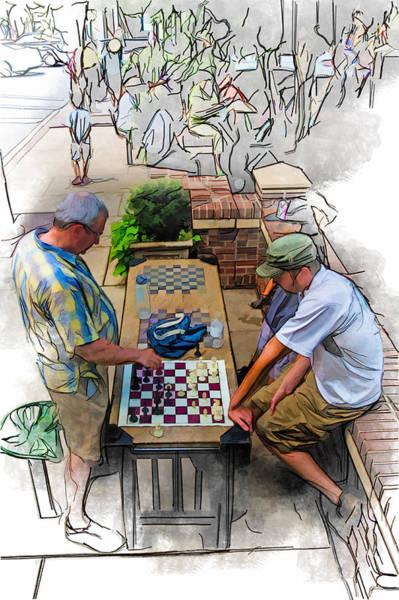 Asheville Mixed Media - Chess Match Too by John Haldane