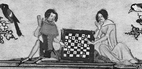 Painting - Chess Players, C1340 by Granger
