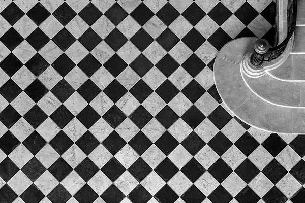 Museum Photograph - Chessboard Staircase by Jean-louis Viretti