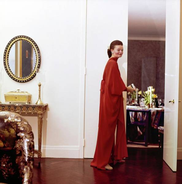 Interior Decorators Photograph - Chessy Rayner In Her Dining Room by Horst P. Horst