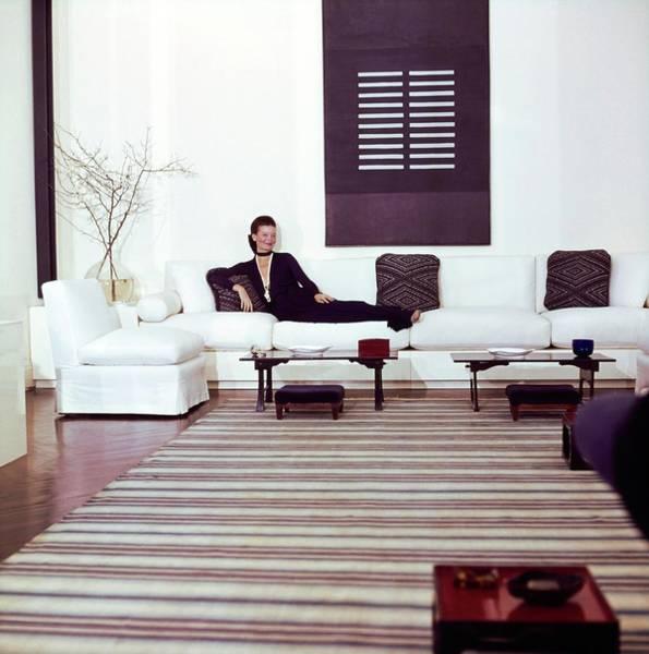Modernist Photograph - Chessy Rayner In Her Living Room by Horst P. Horst