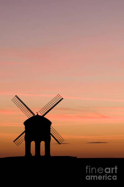 Sun Set Photograph - Chesterton Windmill by Anne Gilbert