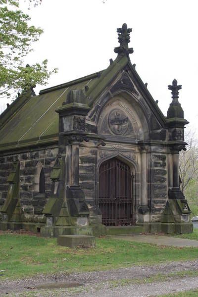 Charnel Photograph - Chestnut Grove Cemetery Colllins  Mausoleum by Valerie Collins