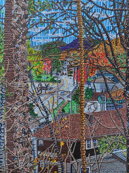 Upstate New York Painting - Chestnut Street From Clinton Street by Micah Mullen