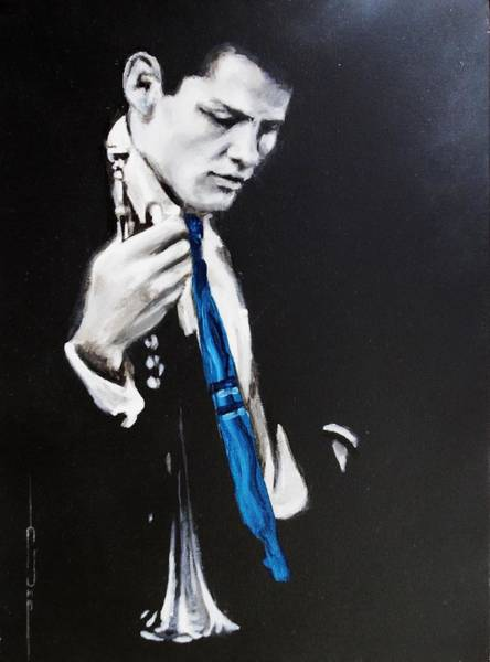 Painting - Chet Baker - Almost Blue by Eric Dee